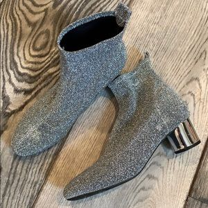 JustFab glitter Shimmer Booties Boots 7.5